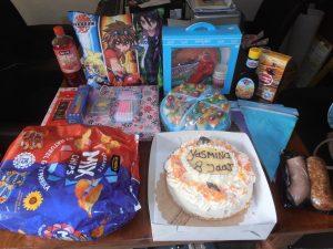 voorbeeld van de inhoud van een verjaardagsdoos